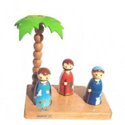 Santons ancien testament - Crèche de Noël en bois tourné