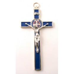 Croix de Saint Benoit bleu