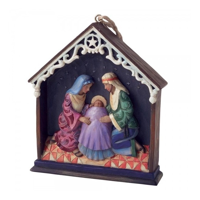 Jim Shore - Holy family in stable
