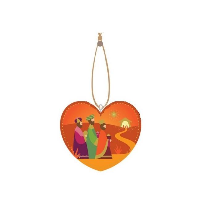 Décoration de noël - Rois mages orange
