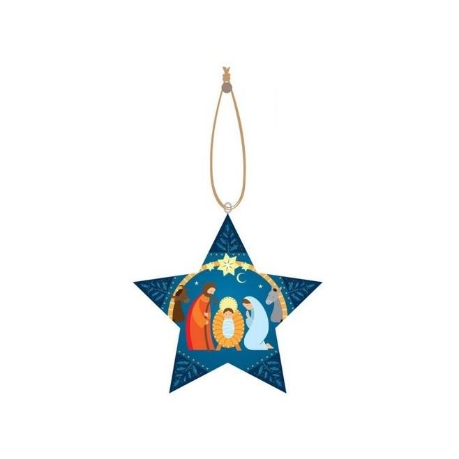 Décoration de noël - Crèche de Noël bleue