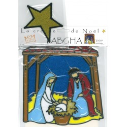 Vitrophanie crèche et étoile TABGHA - décoration pour fenêtre