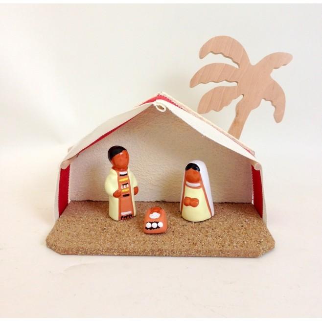 Etable pour crèche de Noël avec santons Abbaye de Jouarre
