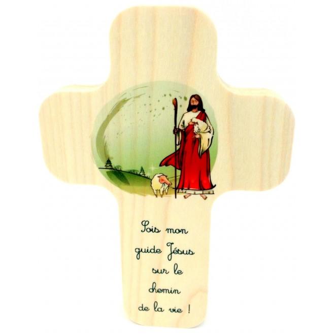 """Croix en érable """"Arbre de Vie"""""""