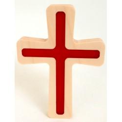 Croix traits fins avec résine rouge