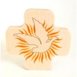 """Croix en érable """"Esprit Saint"""""""