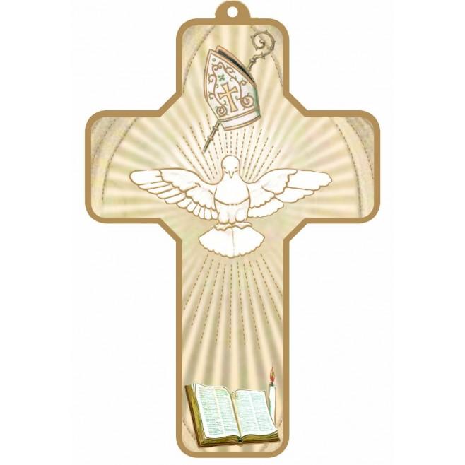 Croix bleudorée Esprit Saint