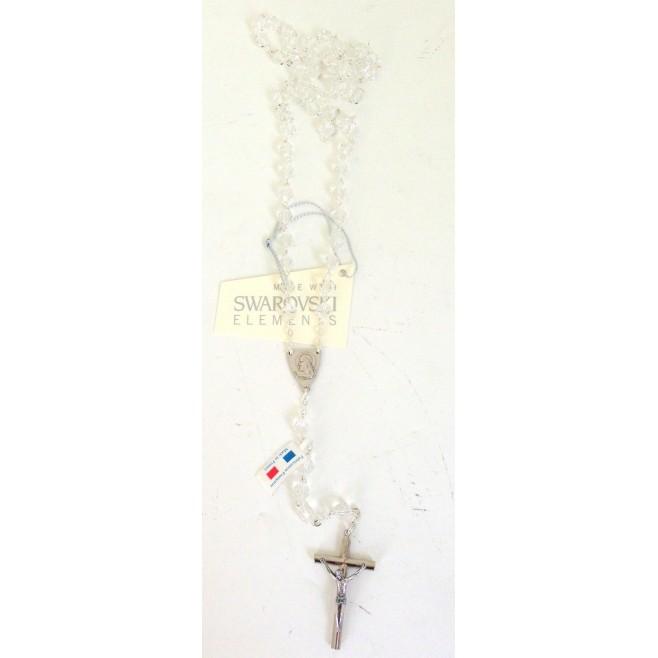 Chapelet Cristal Swarovski Blanc