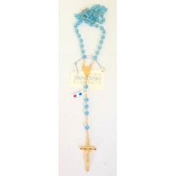 Chapelet doré Cristal Swarovski Aquamarine