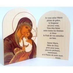 Diptyque arrondi Vierge à l'enfant avec Prière