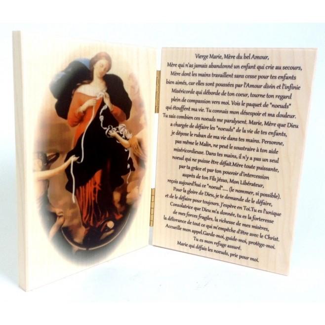 Icone Diptyque arrondi Vierge à l'enfant avec Prière