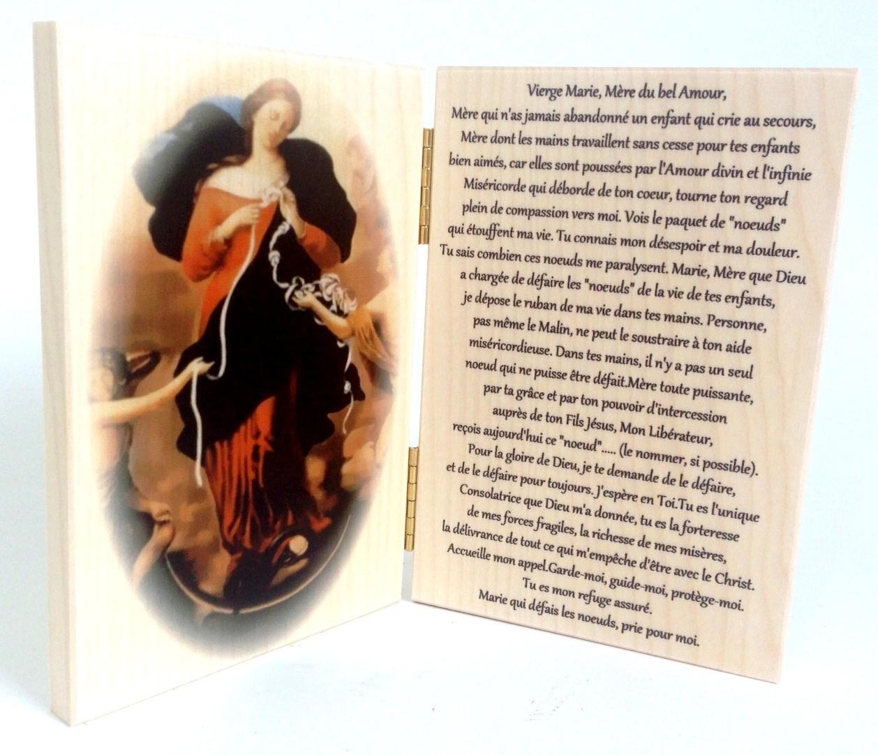 Super Icone Diptyque Marie qui défait les noeuds avec prière | Comptoir R NG38