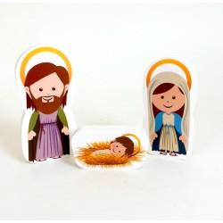 Cadeau de baptême : Ma petite crèche de Noel - 12 santons