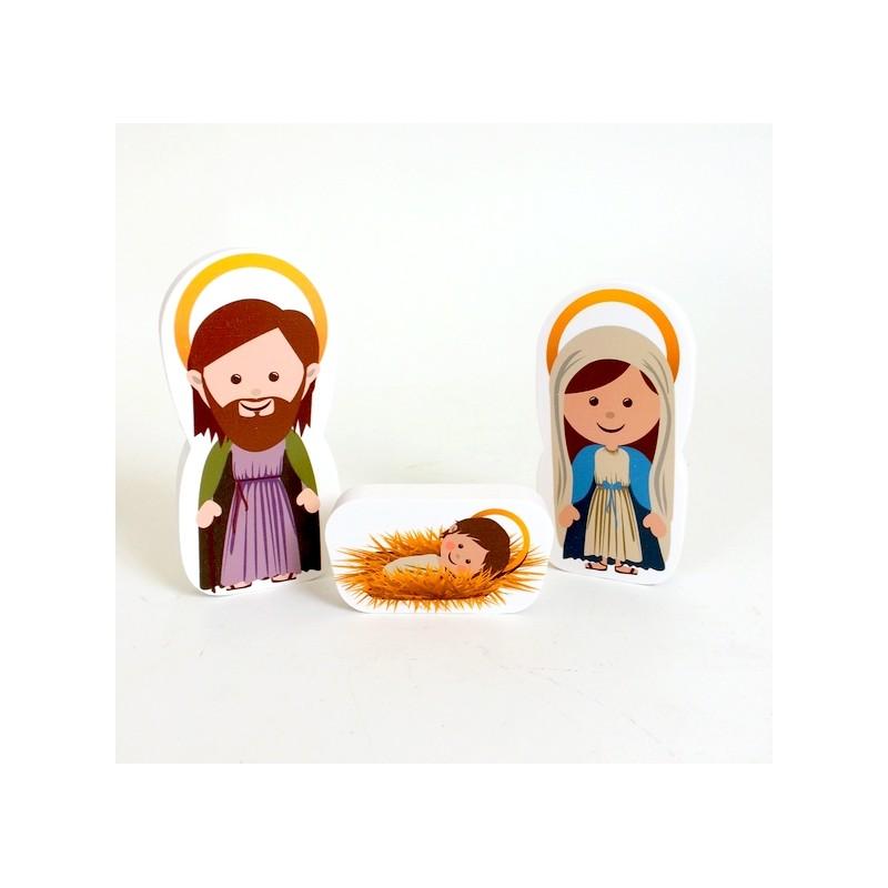 Ma petite cr che de noel 12 santons comptoir religieux - Petites images de noel ...