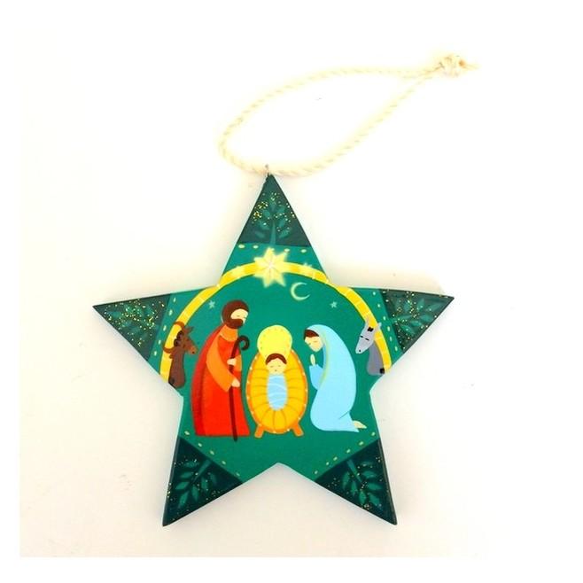 Décoration de noël - Crèche de Noël verte