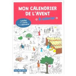 Mon calendrier de l'Avent à colorier