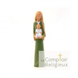 Statue Yves le Pape - Marie de l'accueil VERTE