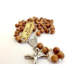 Cadeau de communion - Chapelet bois d'olivier