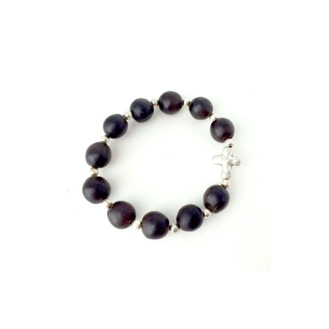 Bracelet religieux élastique rouge