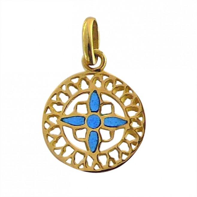 Médaille Or et émail Vitrail Chartres