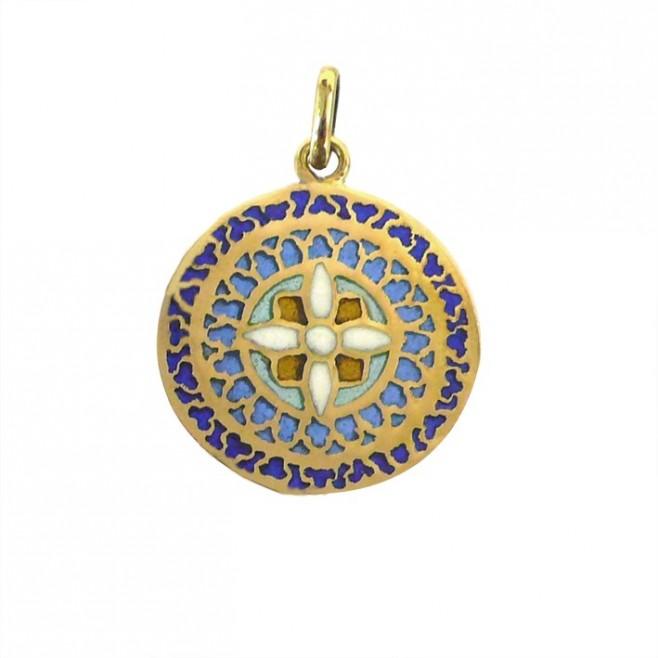 Médaille Or et émail Vitrail Mont St Michel