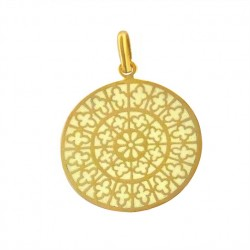 Médaille Or et émail Vitrail Notre Dame Ouest
