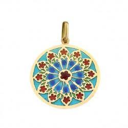 Médaille Or et émail Vitrail Sainte Chapelle