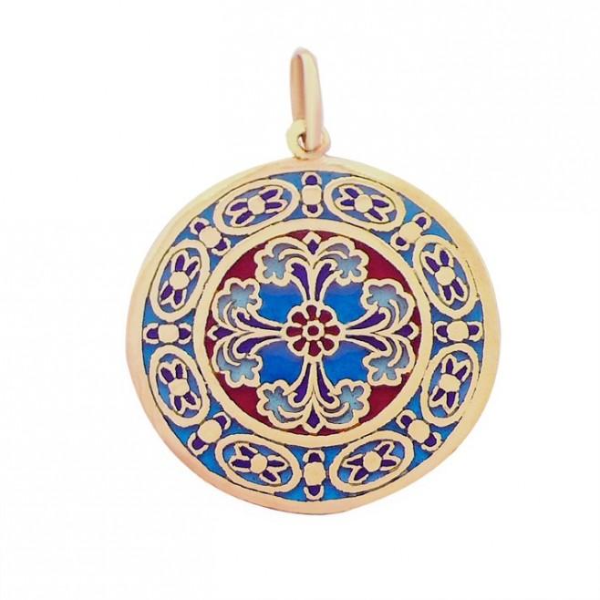 Médaille Or et émail Vitrail Strasbourg