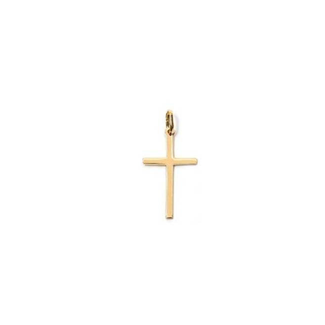Pendentif croix plaqué or