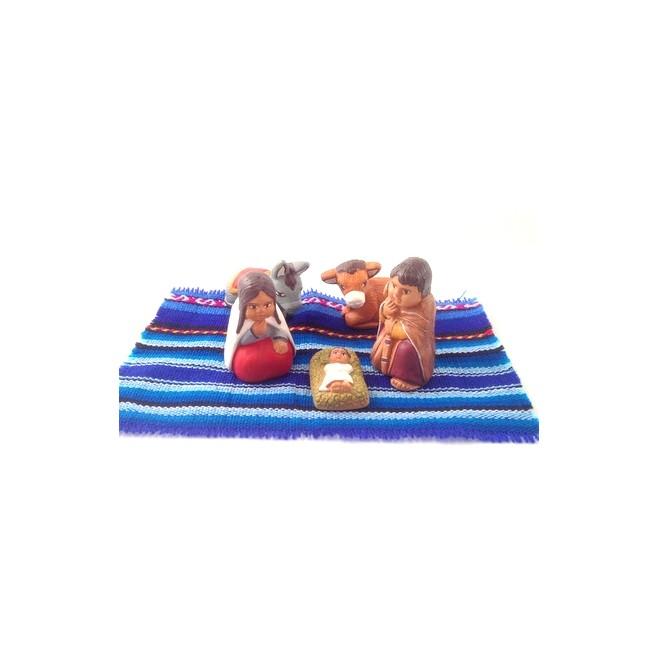 Creche péruvienne terre cuite - 5 santons