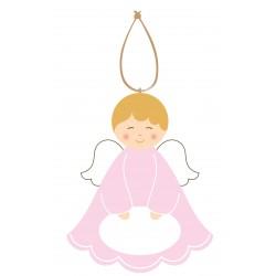 Cadeau de Baptême Ange à personnaliser Vert 2