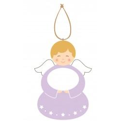 Cadeau de Baptême Ange à personnaliser Violet 2