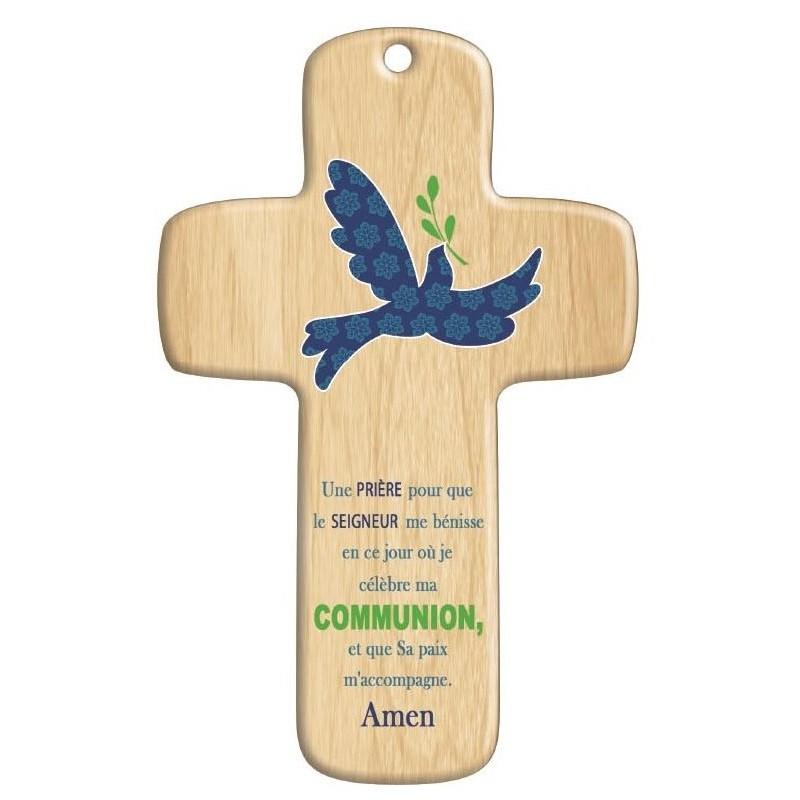 Cadeau de communion croix bois moderne paix comptoir religieux - Image religieuse gratuite a imprimer ...