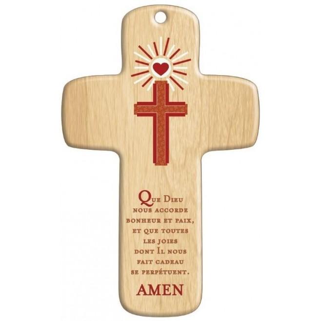 Cadeau Religieux : Croix bois Moderne Croix