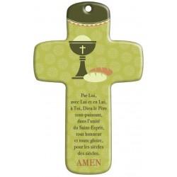 Cadeau Communion : Croix bois Moderne Communion