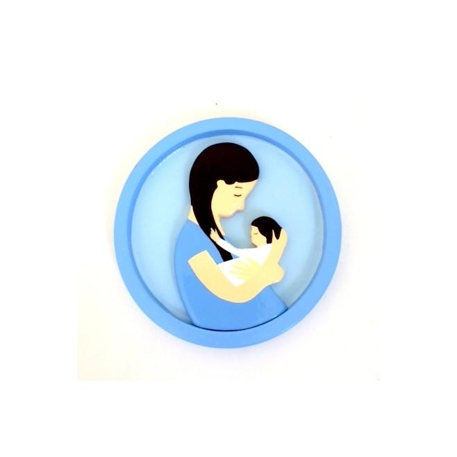 Cadre rond Vierge à l'enfant