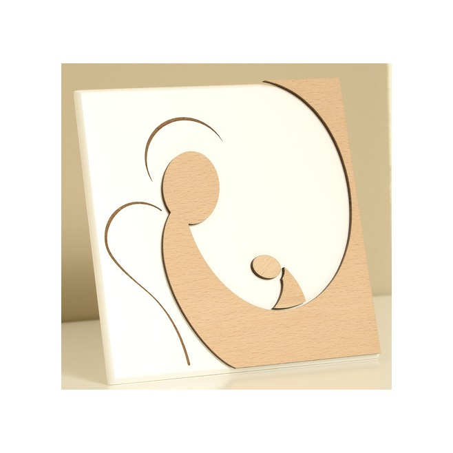 Cadre bois laqué blanc - Douceur d'ange