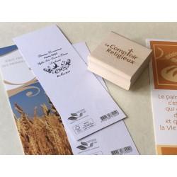 """Tampon personnalisable - """"Souvenir de ma communion"""""""