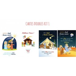 4 CARTES DOUBLES NOEL - KIT 1