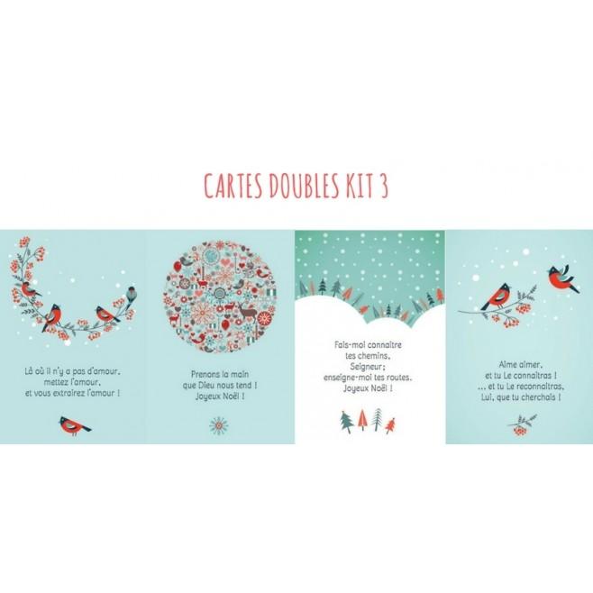 4 Cartes doubles Noel - Kit 3