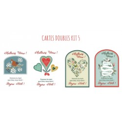 4 cartes doubles Noel - kit 5