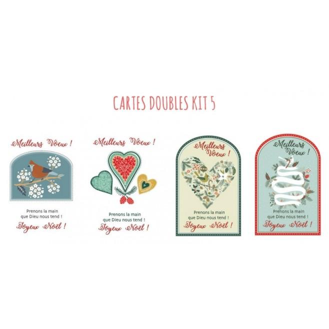 4 cartes doubles Noel - kit 5