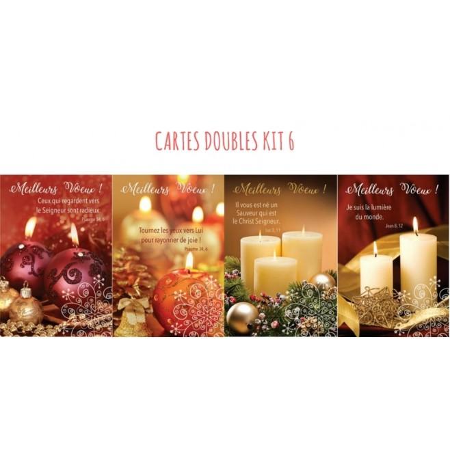 4 cartes doubles de Noel - Kit 6