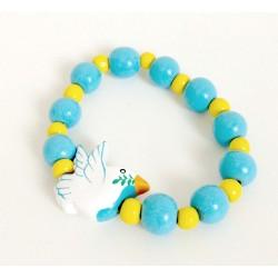Bracelet enfant colombe bleu