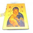 Icone Religieuse OR - 19x24 Notre Dame de tendresse de Vladimir