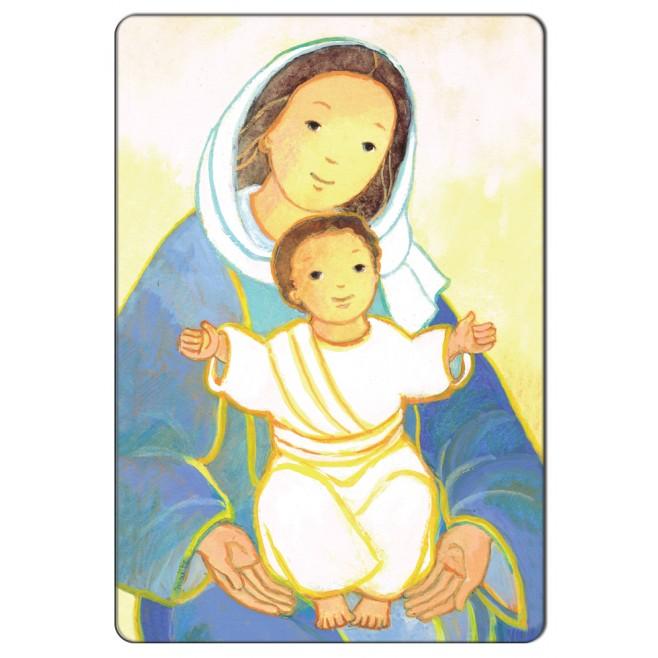 Magnet religieux Maïte Roche - Vierge à l'enfant