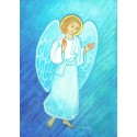 Carte Saint Patron Maïte Roche - Ange Gardien - 10x15cm