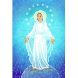 Carte Saint Patron Maïte Roche - Vierge Miraculeuse