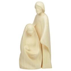 Statue moderne Sainte Famille en bois de frêne
