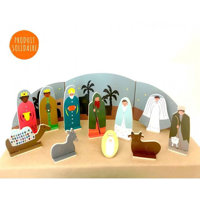 Crèche de Noël en bois - en kit à monter